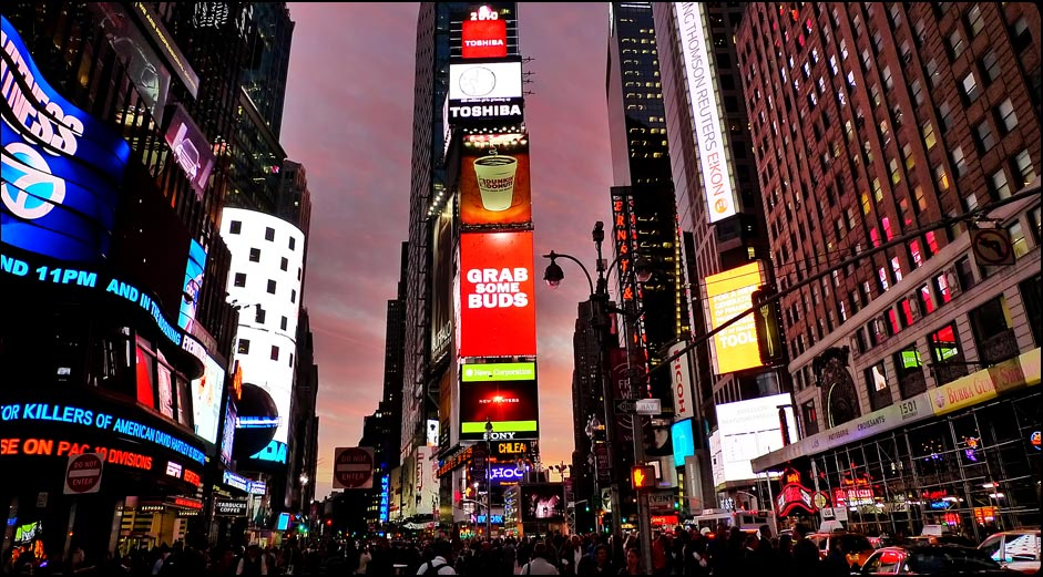 Travel and Lifestyle | Times Square | Photography and graphic design by Michael Mariano